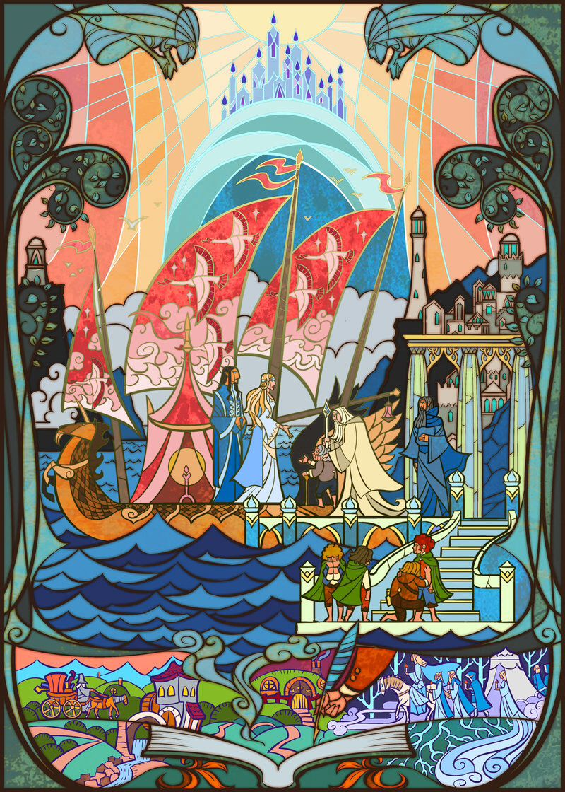 lord of the rings stained glass art | stained glass | pinterest