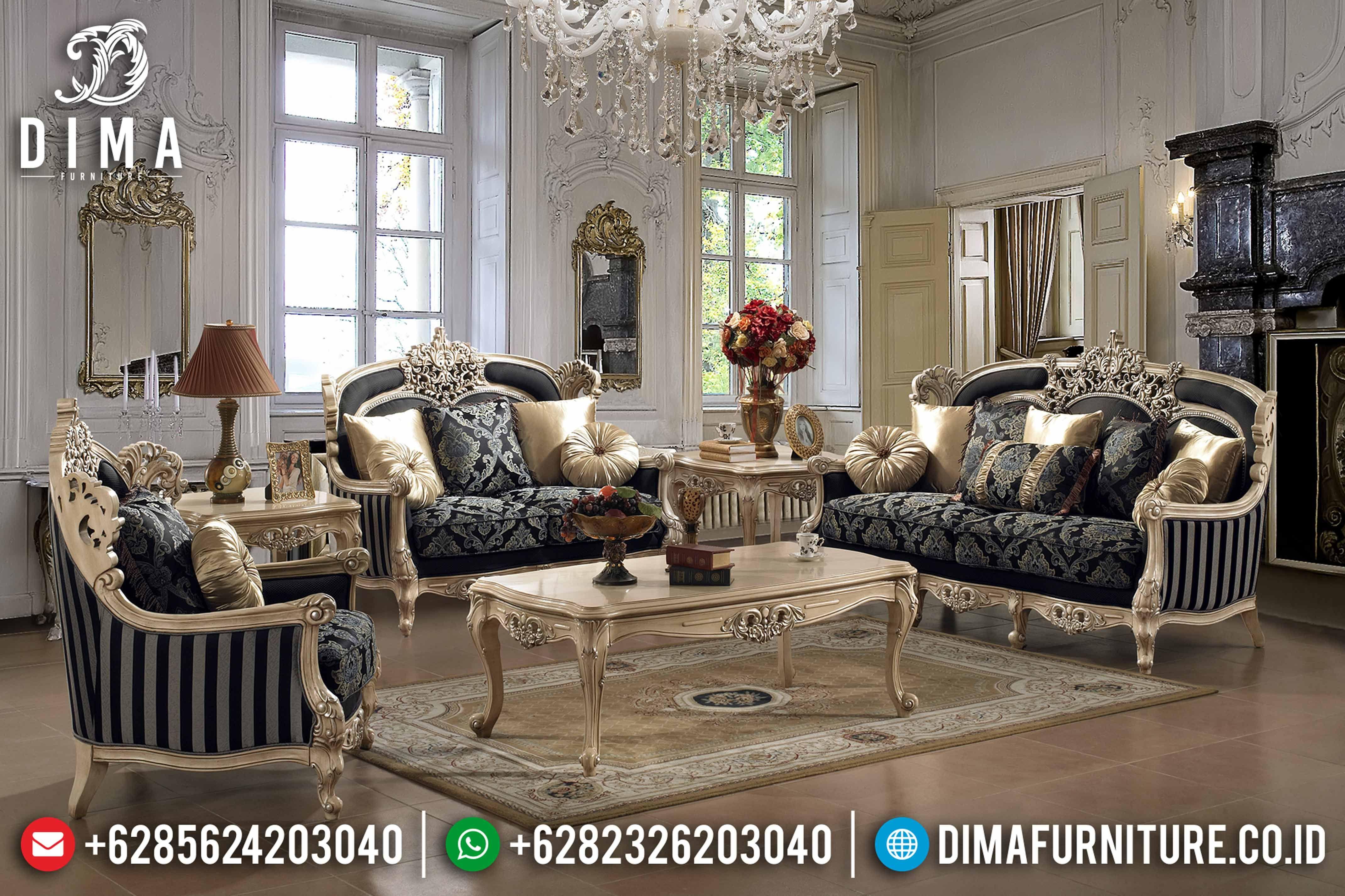 Mebel Klasik Terbaru Sofa Tamu Jepara Mewah Chamonix Duco Df 0642