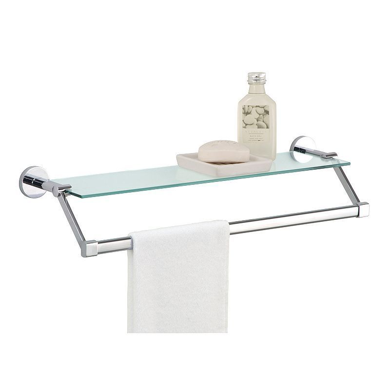 Neu Home Glass Shelf Towel Rack - Silver | Glass shelves, Towels and ...