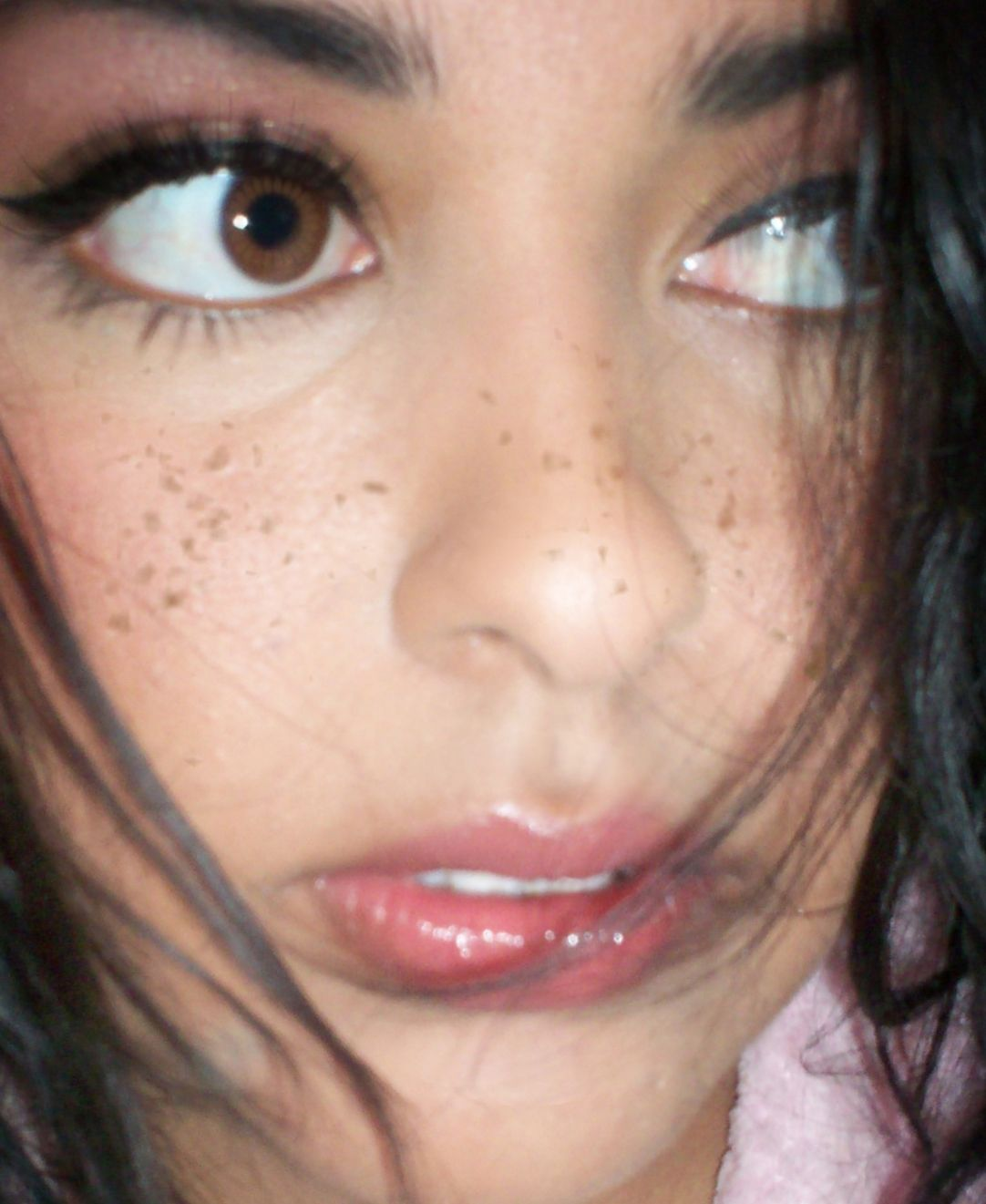 Freckled Girl With Nose Ring