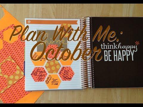Decorating Your Planner For October   Erin Condren   Dashboards, planner Bands, Paper Clips - YouTube