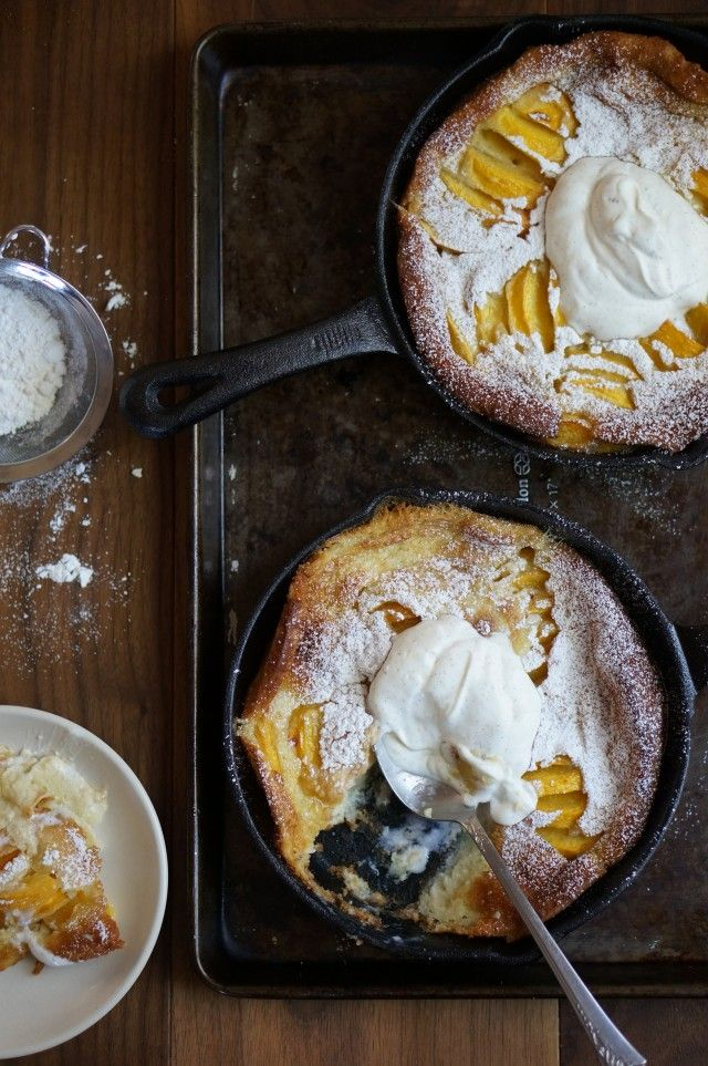 I don't know whether to call this a dessert or a breakfast because it would be appropriate for either occasion. The classic clafoutis is a cherry clafoutis which will do perfectly well since cherries are abundant but I wanted to change things up a little and use peaches. I added a whole lot of fresh […]