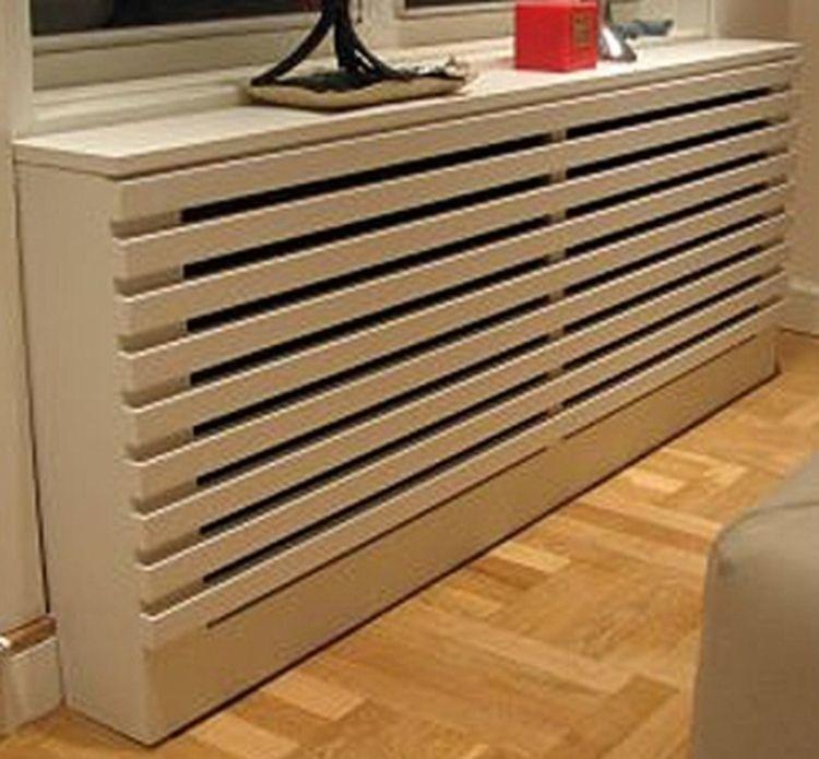 Una soluci n para ocultar un radiador en una habitaci n - Como hacer cubreradiadores ...
