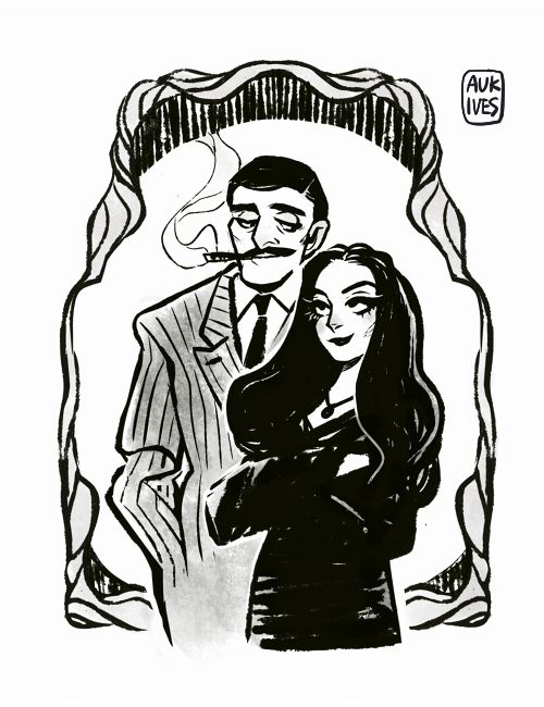 Morticia, Gomez - Addams family | THE ADDAMS FAMILY | Pinterest ...