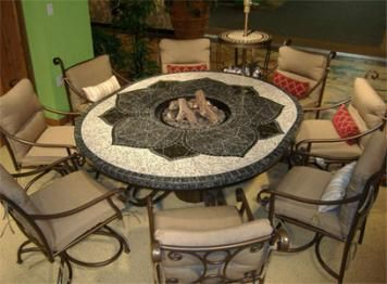 Fire Pit Table For My Garden. Hope To Make One Similar.