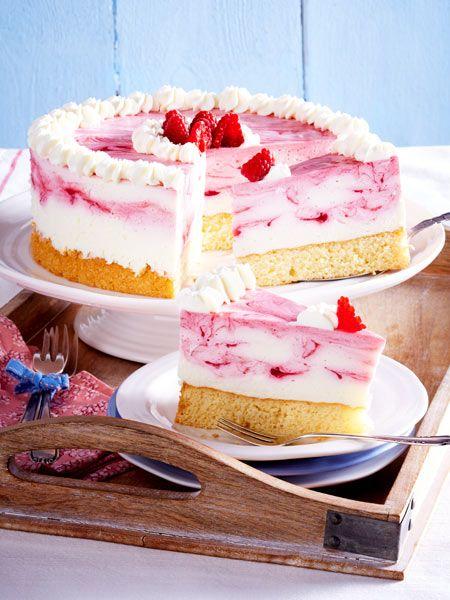 Ein Traum In Rosa Himbeer Quark Kuchen Himbeer Quark Torte Kuchen Und Torten