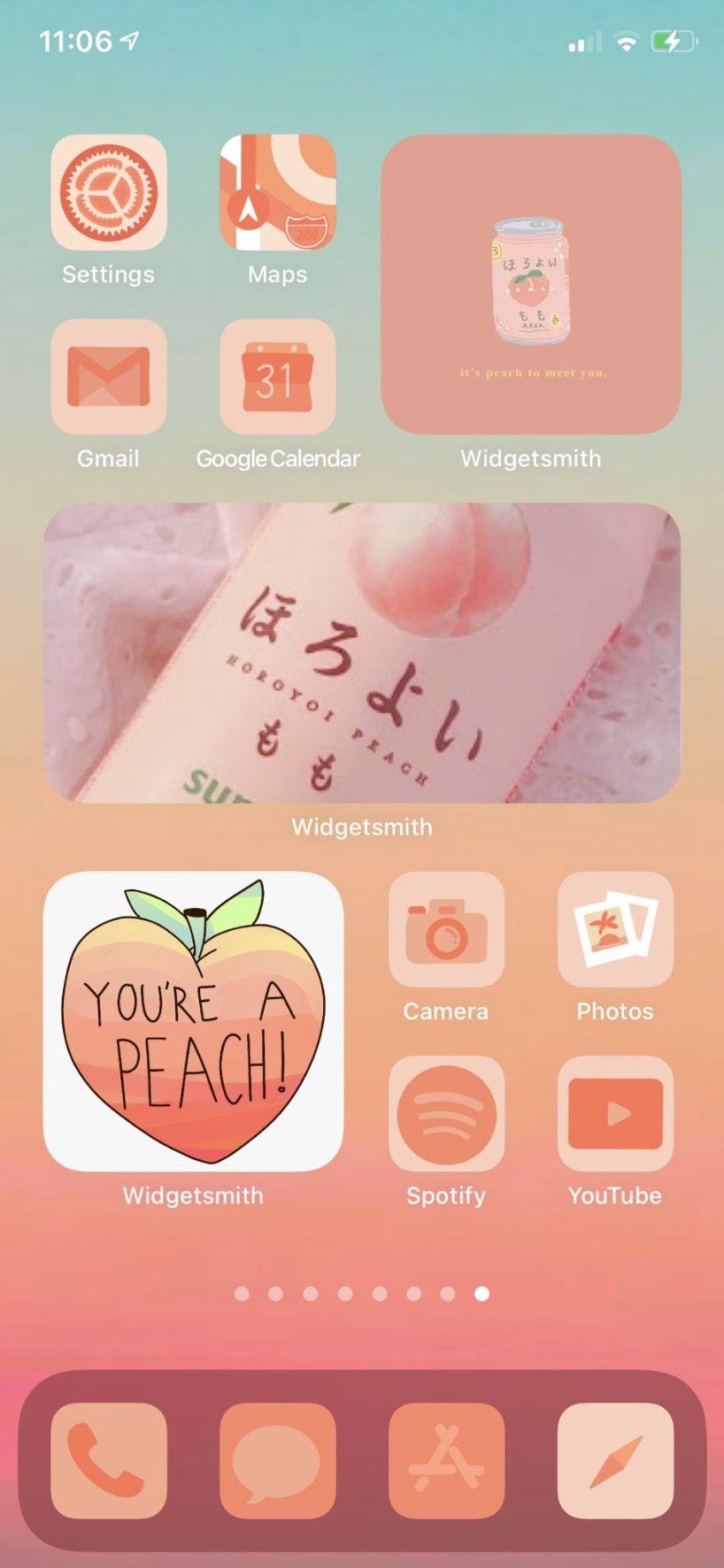 30 Aesthetic Ios 14 6 Home Screen Theme Ideas Gridfiti Iphone Home Screen Layout Homescreen Iphone Layout