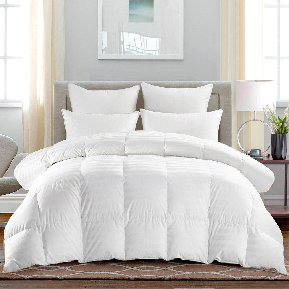 Puredown All Season 500 Thread Count 600 Fill Power 75 Goose Down Baffle Box Comforter Twin In 2021 Down Comforter Comforters Cool Comforters
