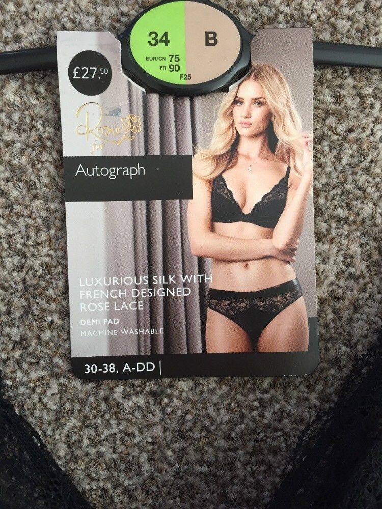 BNWT Rosie Autograph Cream Mix Silk French Knickers Marks and Spencer RRP £25
