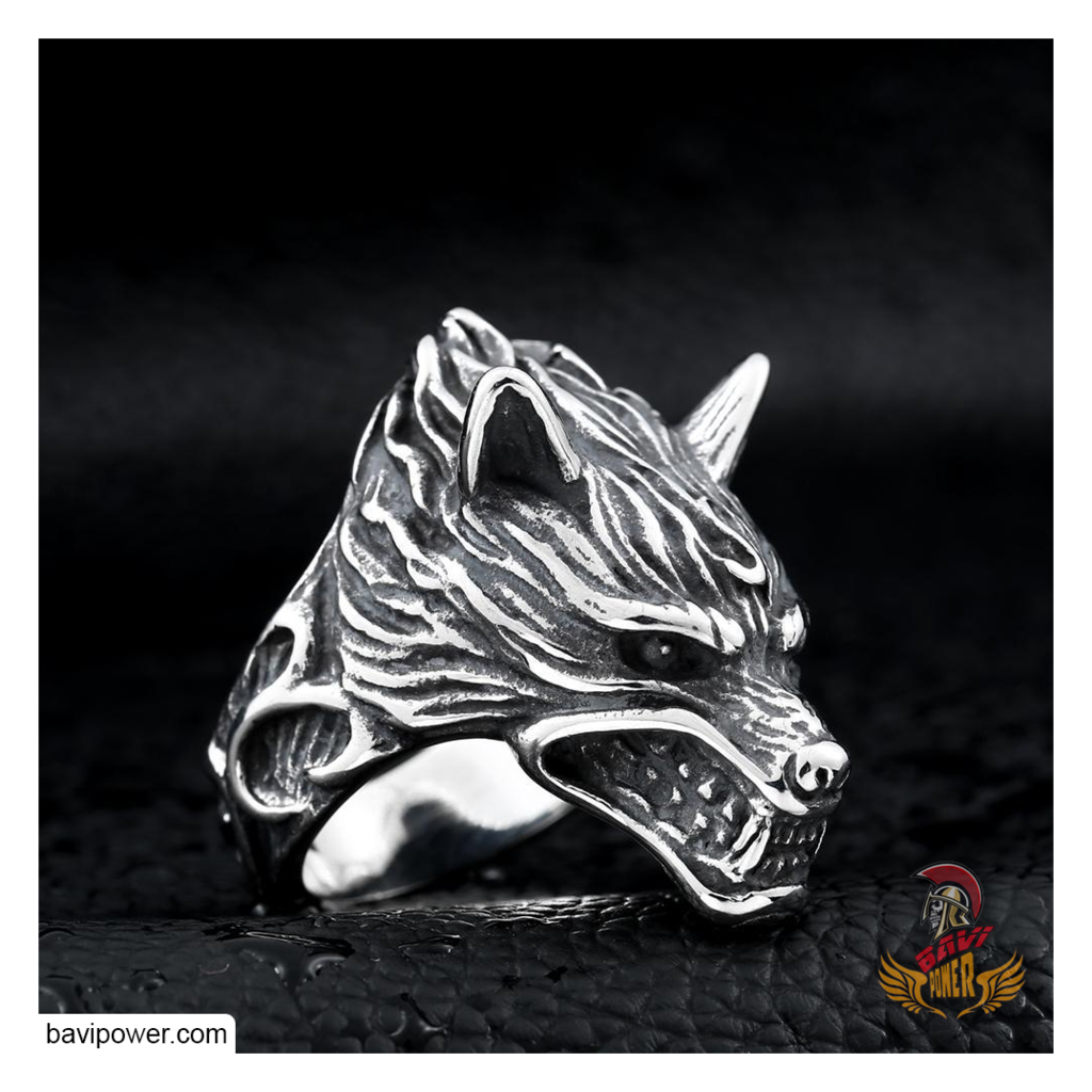 Viking Wolf Head Ring in 2019 Rings, Gold, silver rings