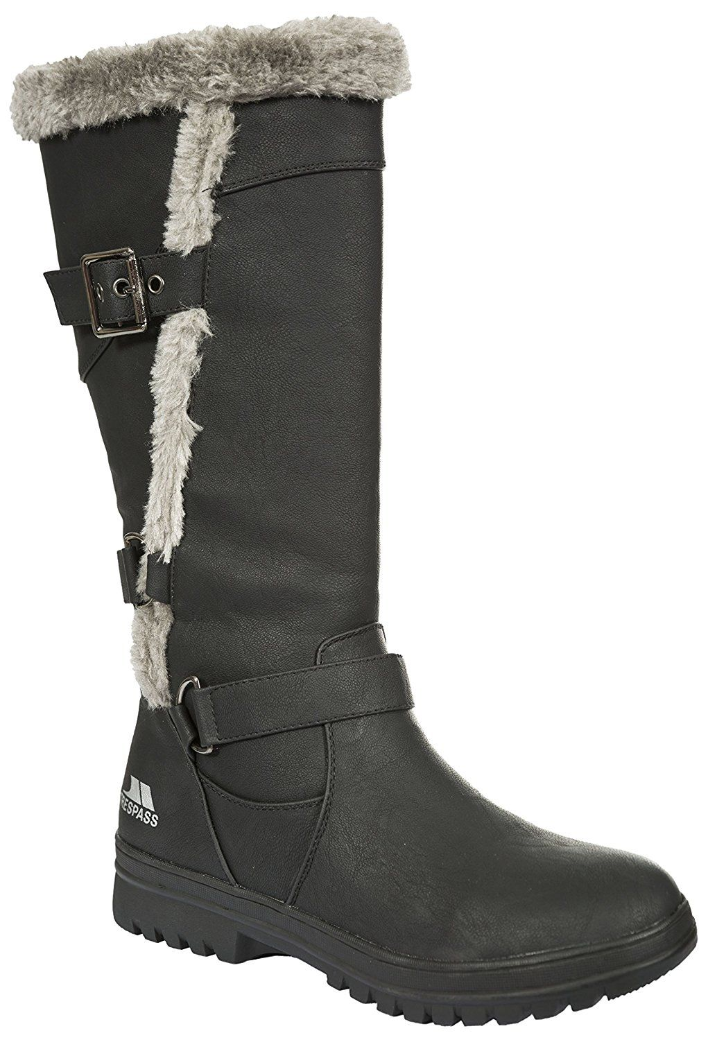 Trespass womens Trespass Womens/Ladies Salvatore Faux Fur Lined Winter Snow  Boots Polyurethane >>> Find out more about the great product at the image  link.