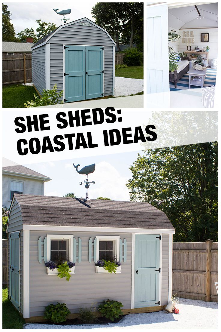 Ideas for painting your garden shed - This Cute Beachy She Shed Installed By The Home Depot Was A Labor