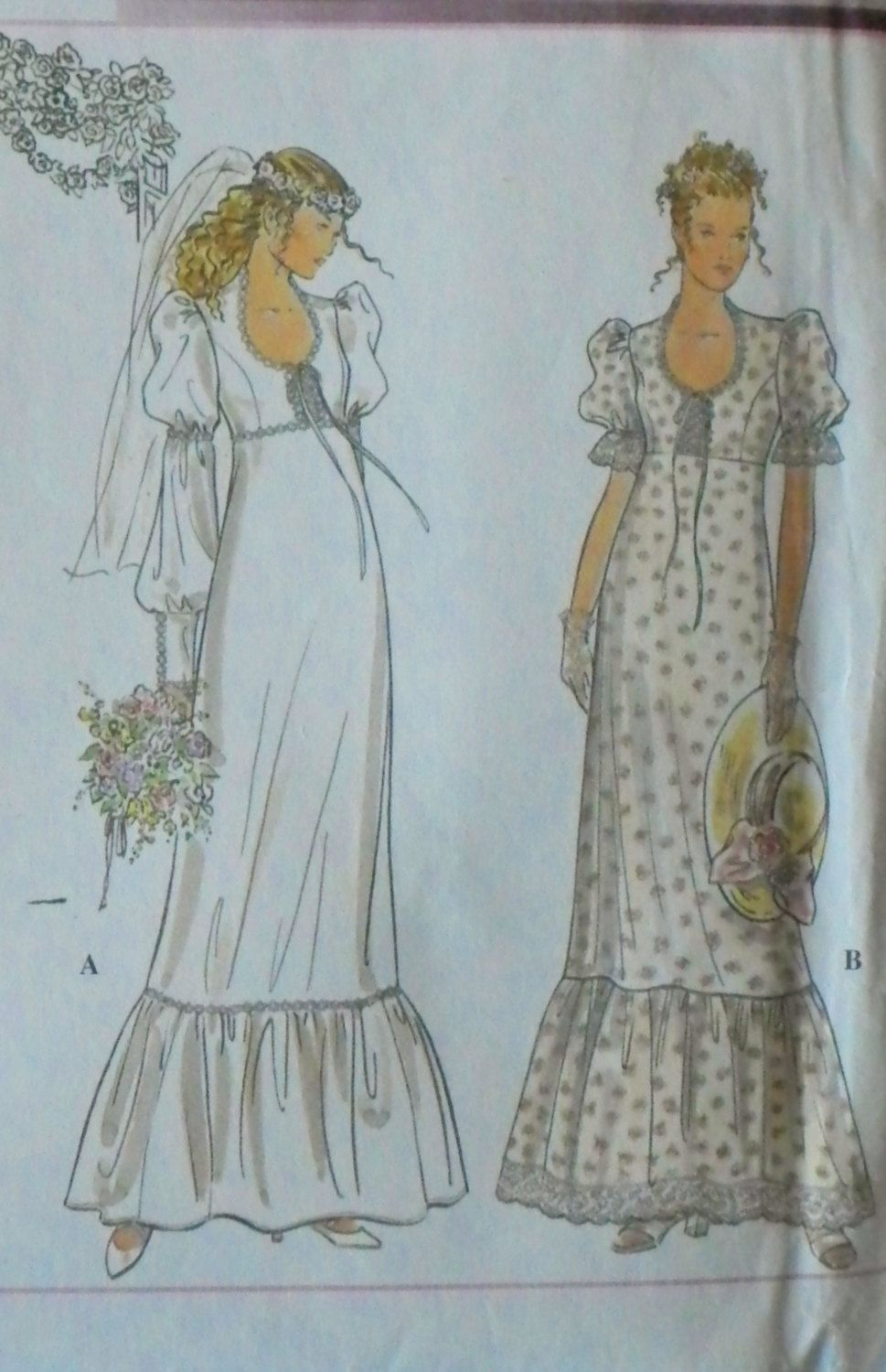 Vogue 2980 Vintage 1970s Bridal Wedding Gown Sewing
