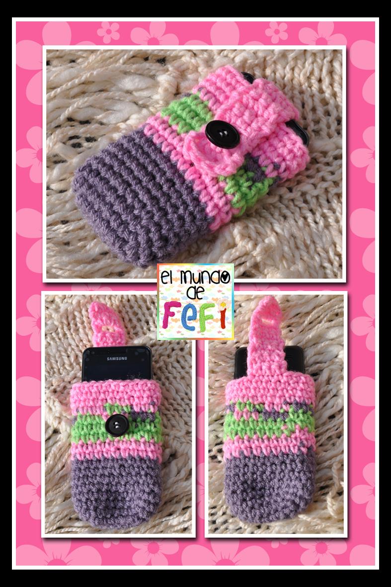 siempre popular distribuidor mayorista llega Estuche para teléfono celular tejido al crochet. | Bolso tejido