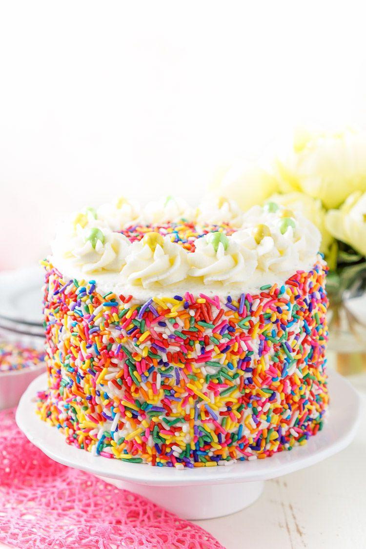Funfetti Birthday Cake Recipe Whip cream frosting Chocolate