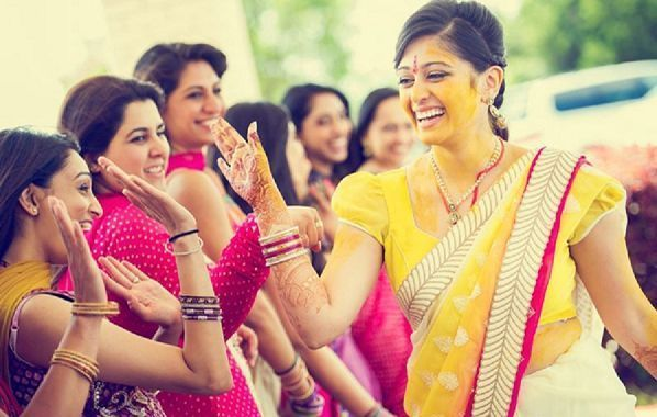 Haldi Is A Charming Ceremony And Songs Are Sung In The Background When Ritual Takes