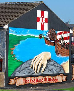 red hand of ulster o 39 neill crest legend tattoos pinterest ireland and northern ireland. Black Bedroom Furniture Sets. Home Design Ideas