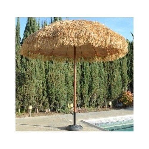 tiki thatched patio pool umbrella outdoor