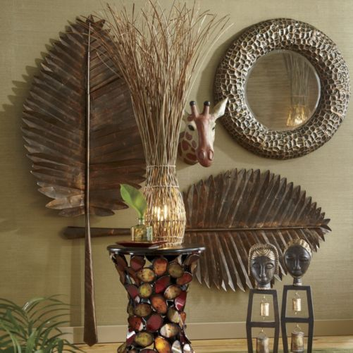 Set Of 2 Cleopatra Leaves African Inspired Decor African Decor African Interior Design