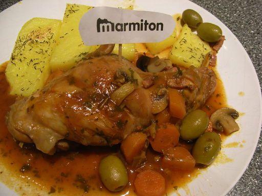 Lapin Sauce Chasseur Recette Fond De Veau Lardons Fumés Et - Comment cuisiner un lapin