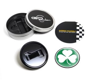 Our BLACK GRILL BADGE HOLDER STARTER KIT is designed to easily mount to most vehicle grills in minutes without tools or mechanical expertise. Each badge is magnetically positioned in grill badge holder and securely trapped by a high gloss trim ring.