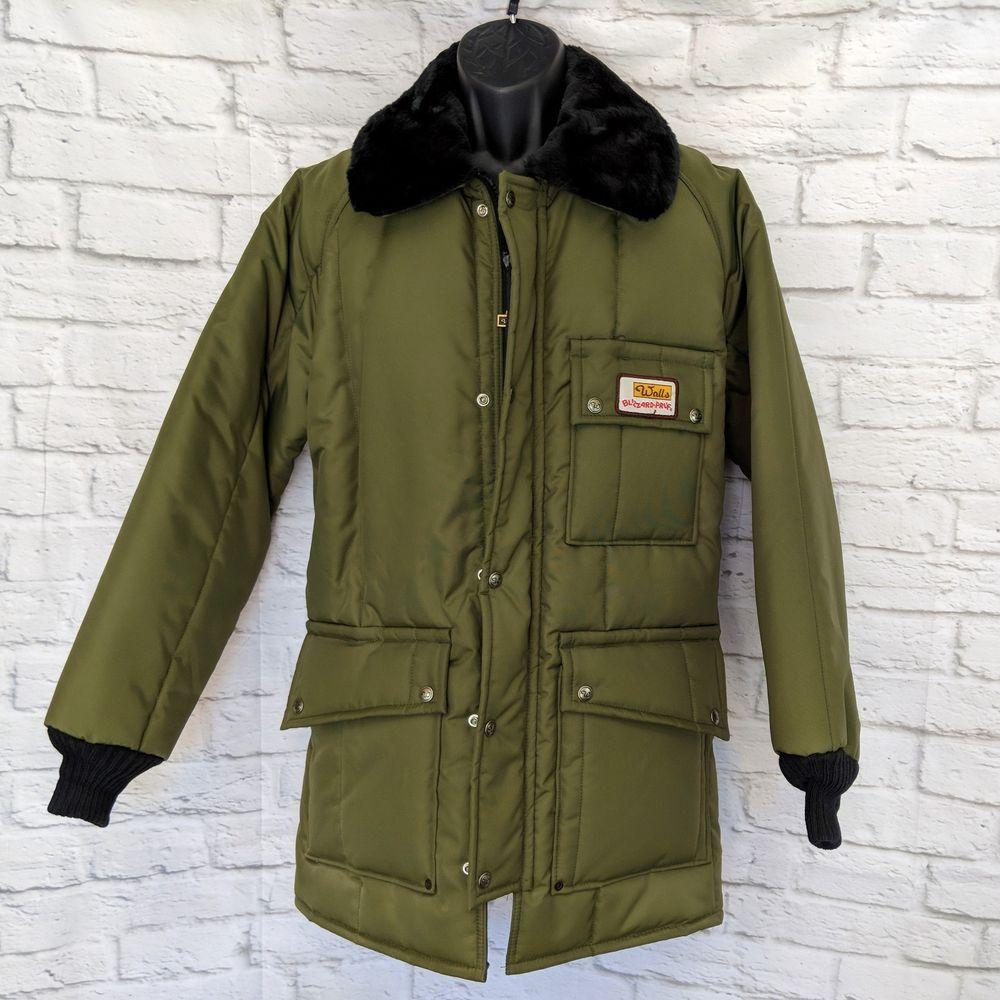 Vintage Walls Blizzard Pruf Mens Medium M Puffer Polar Jacket Coat