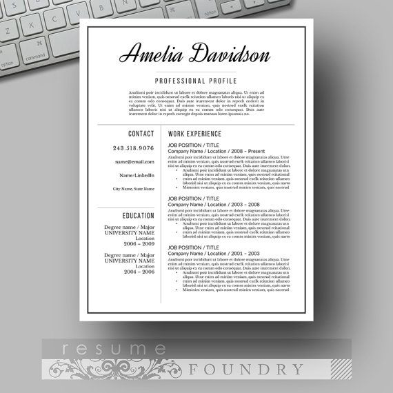 Welcome to the Resume Foundry, we are here to help you invest in - most professional resume template