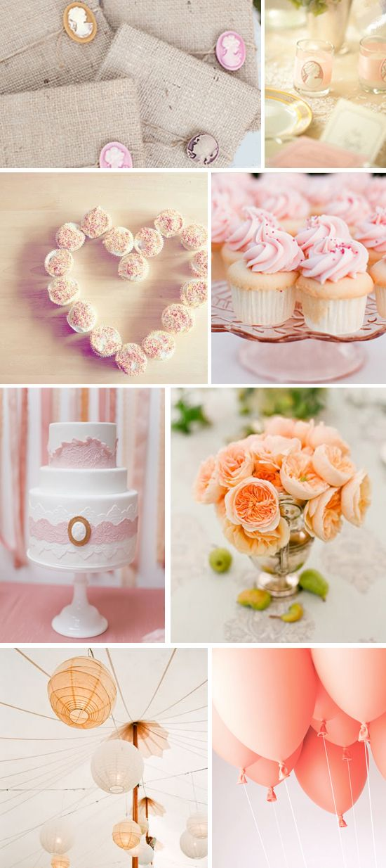 Apricot, Peach, and Blush - A Wedding Color Story   Future Wedding ... 2357b3fe26