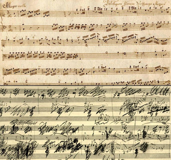 Mozart S Handwriting Vs Beethoven S Handwriting Beethoven Music