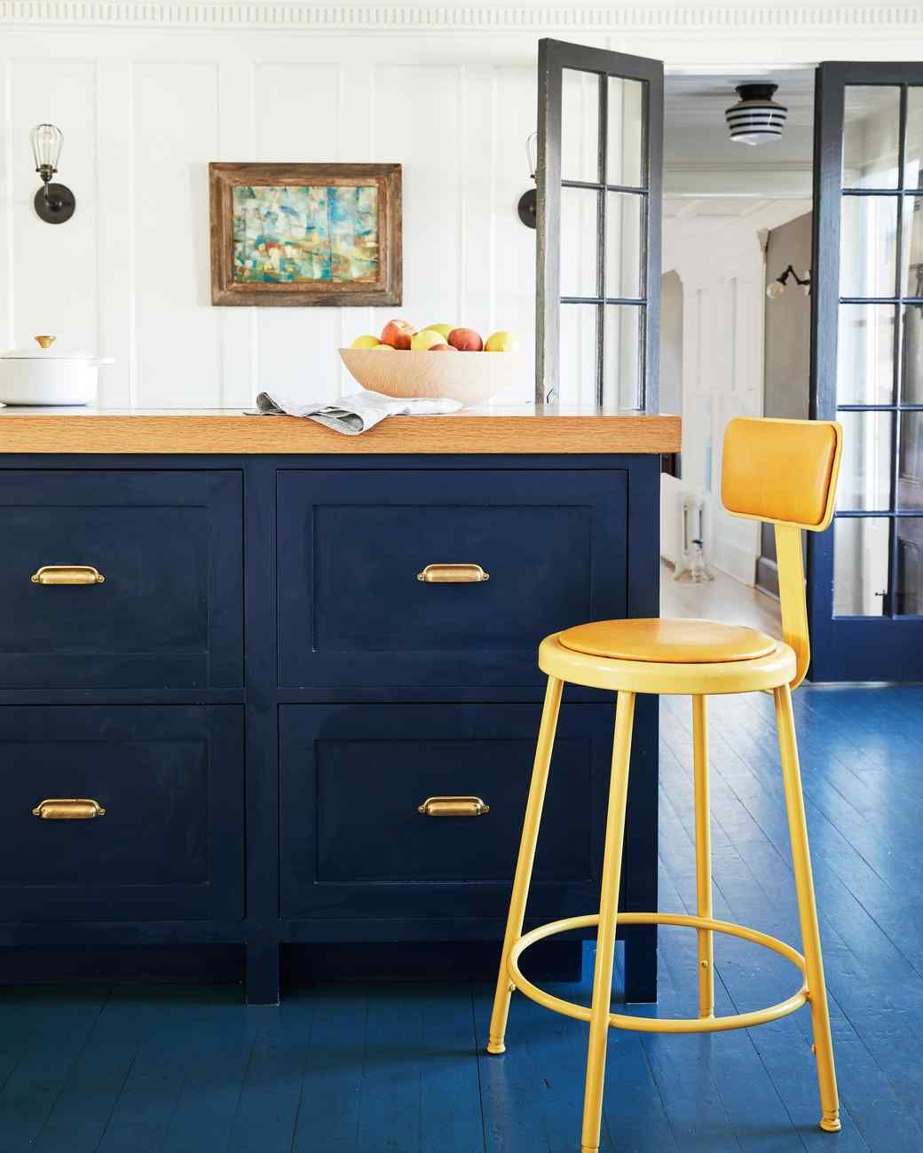 Spray-Painted Metal Stool | Painting cabinets, Kitchen ...