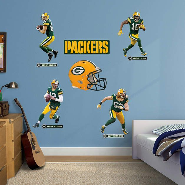 Fathead Green Bay Packers Power Pack Wall Decals   Wall Sticker Outlet Part 62
