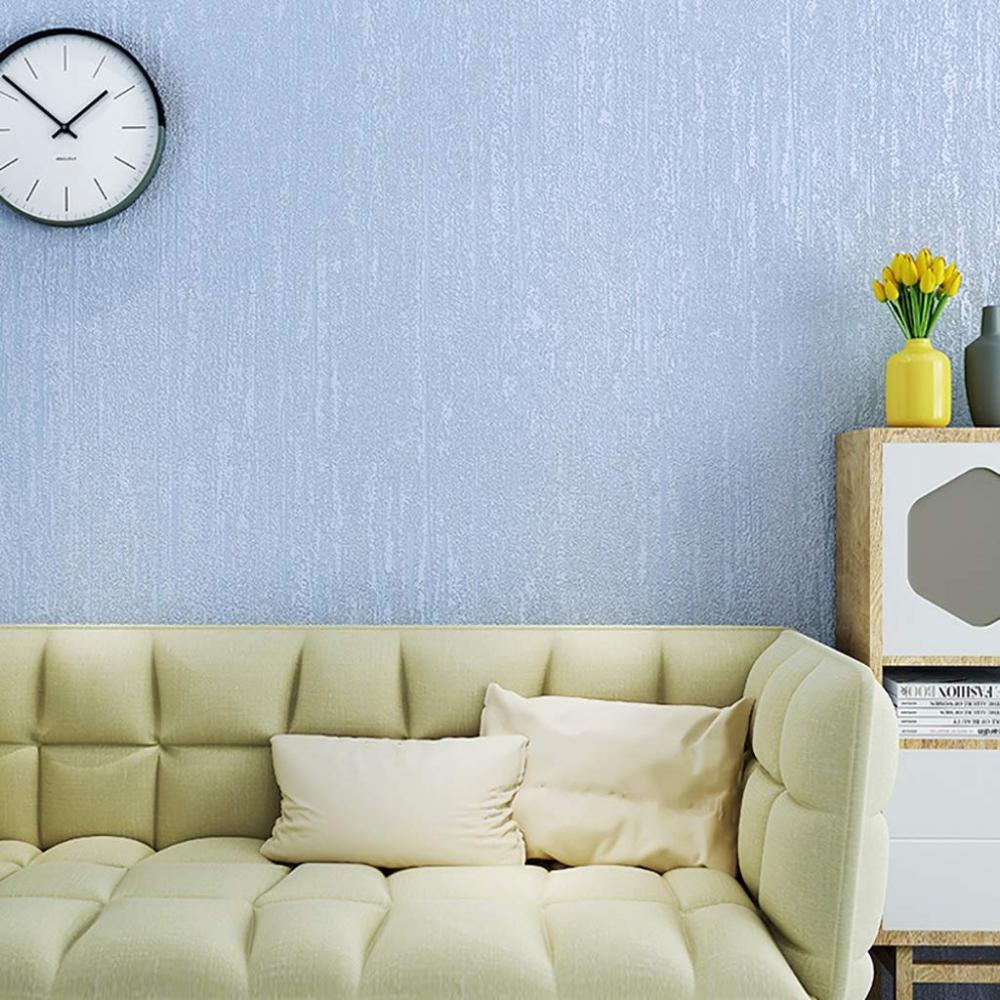 Amazon.com: D&F Solid Color Non-Woven Wallpaper Bedroom ...