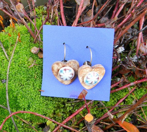 Circle my Heart Wire Earrings Handmade by LoriettesDesigns on Etsy