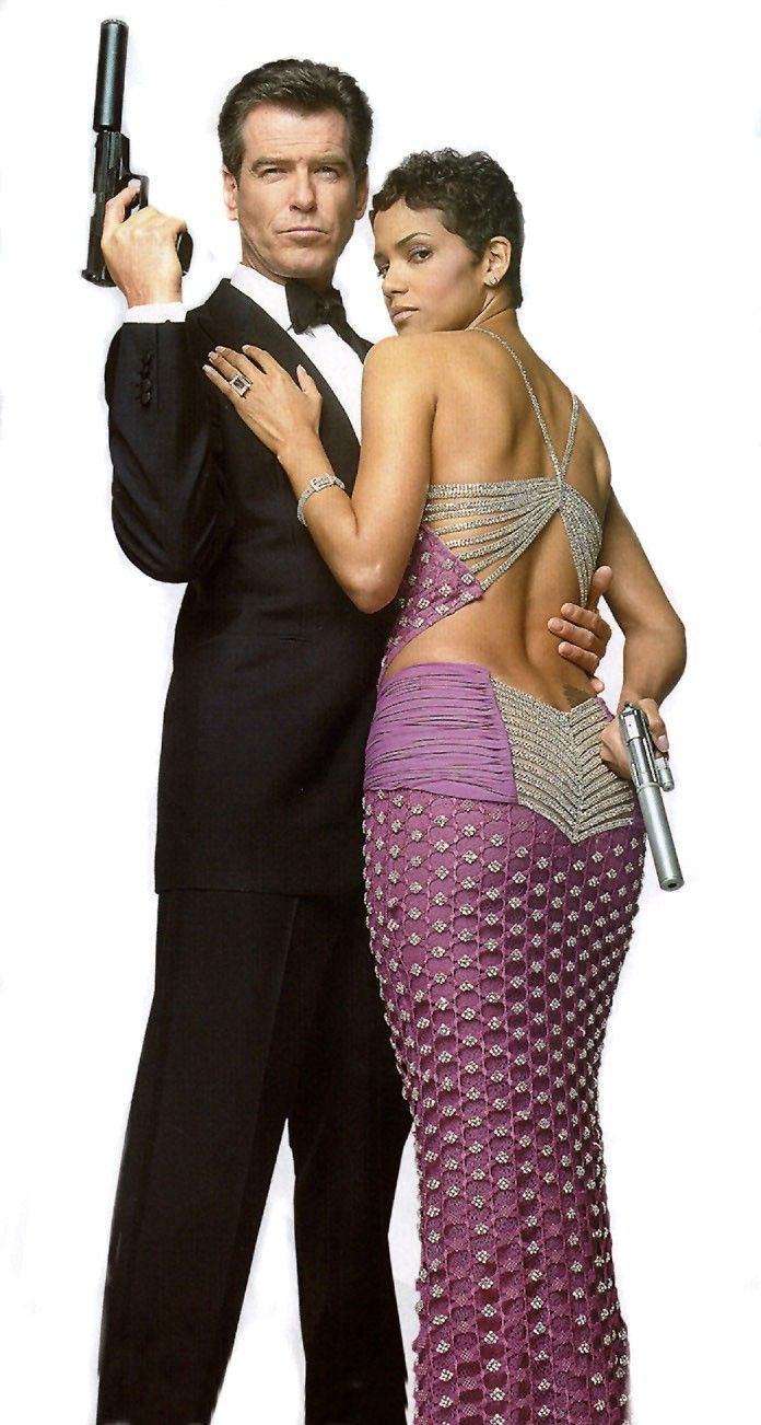 "Halle Berry with Pierce Brosnan in  ""Die Another Day"""