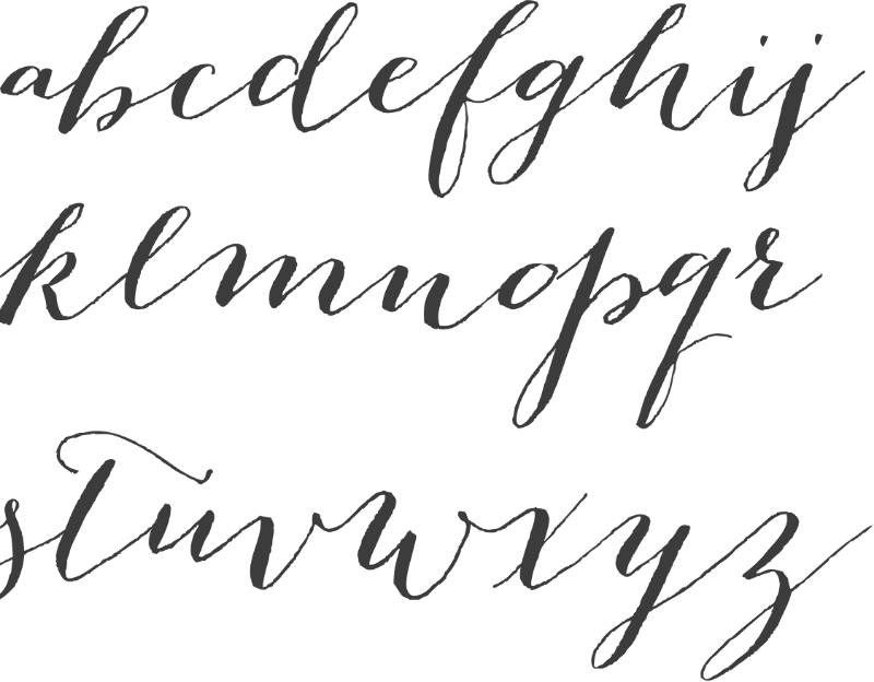 How to use calligraphy fonts