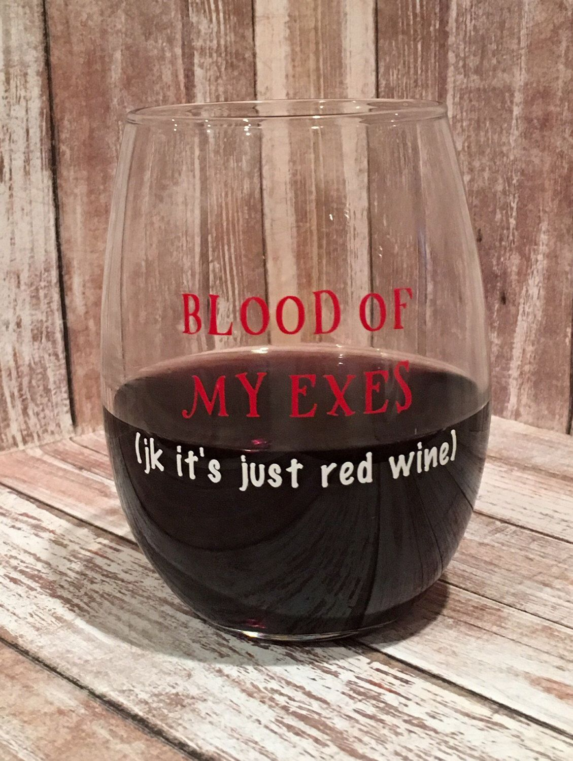 A personal favorite from my Etsy shop https://www.etsy.com/listing/501850156/blood-of-my-exes