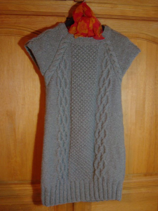 0bd7fe375138f modèle tricot robe tunique fillette | knitting | Robe tricot, Tricot ...