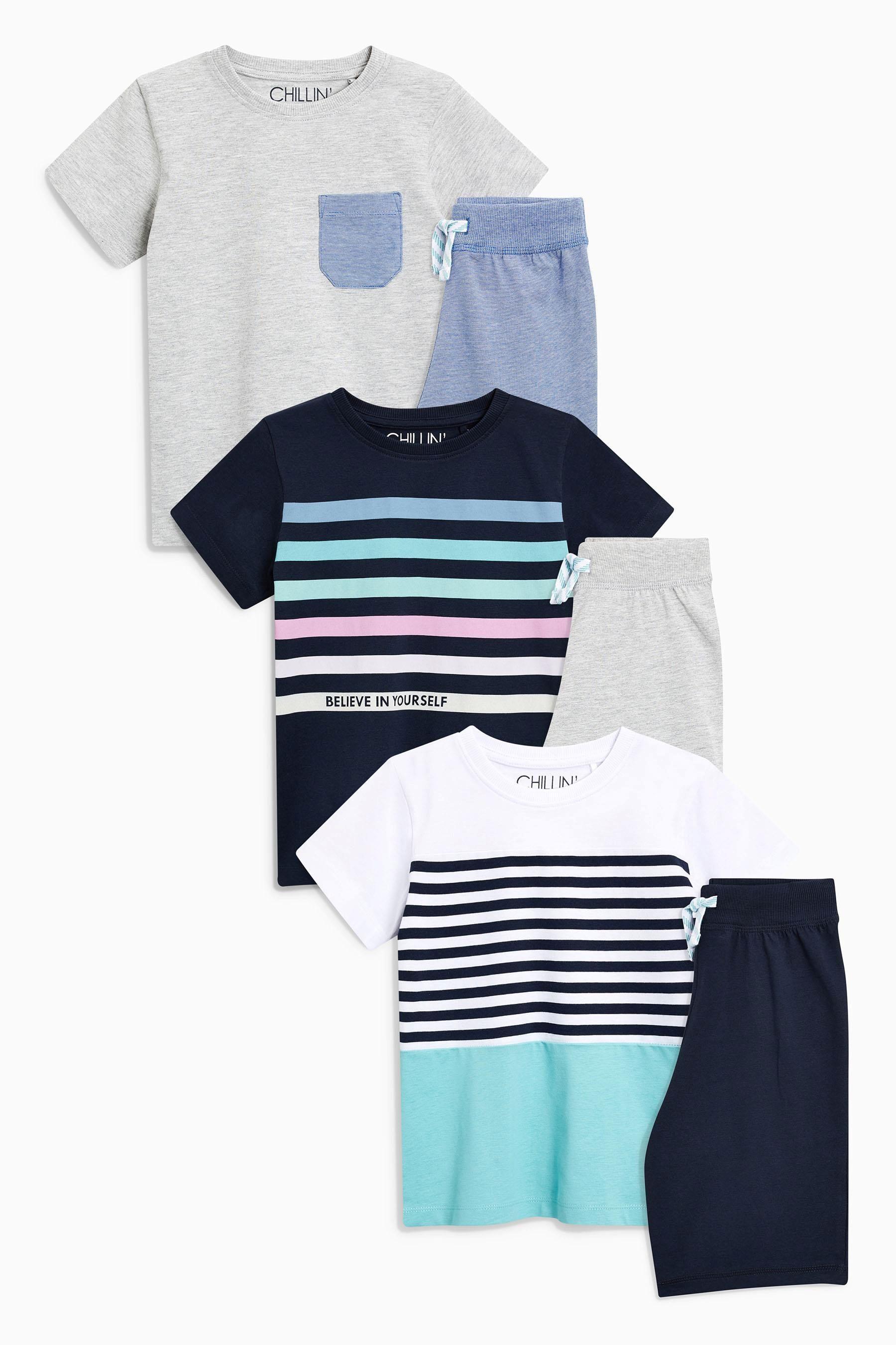 Buy Navy Stripe Pyjamas Three Pack (3-16yrs) from the Next UK online ... a30b342d5