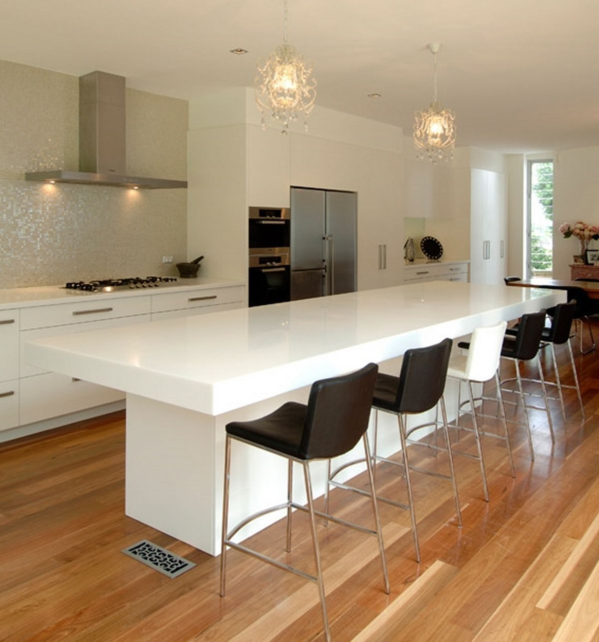 attractive Kitchens With Breakfast Bar Designs #8: Contemporary Kitchen Counter And Breakfast Bar Design By Hanex