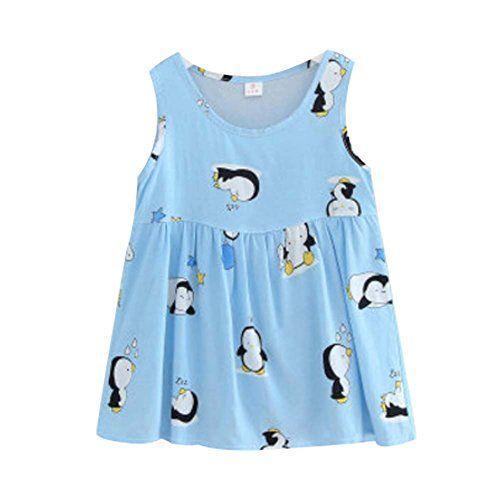 a9977f6515b1b Panda Superstore  U  Kids  Pajama Home Nightdress Sleeveless Cotton Dress  Vest Skirt for Girls