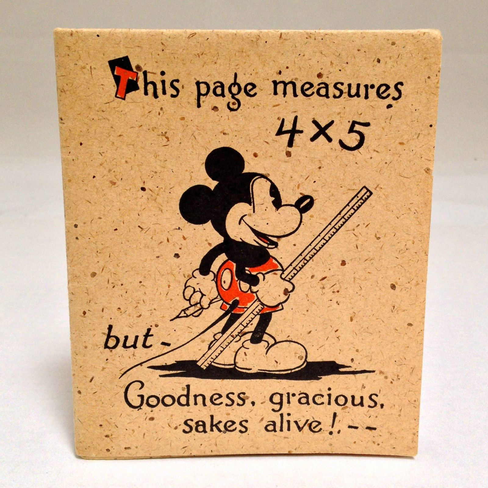Vintage Disney Mickey Mouse Oversized Birthday Card By Halls