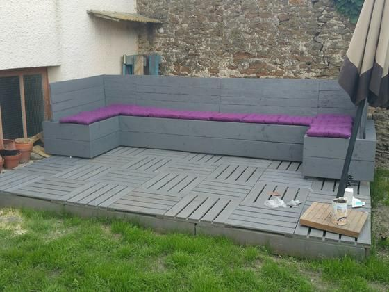 salon de jardin en palette Instructions de montage Do-it-yourself ...