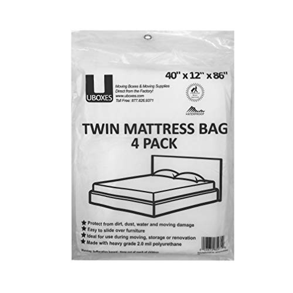 Uboxes Twin Mattress Moving Covers 4 Pack Mattress Twin Mattress Size Mattress Box Springs Twin Mattress