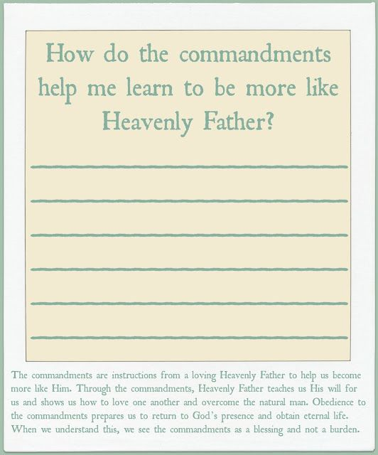 September Sunday School Handouts