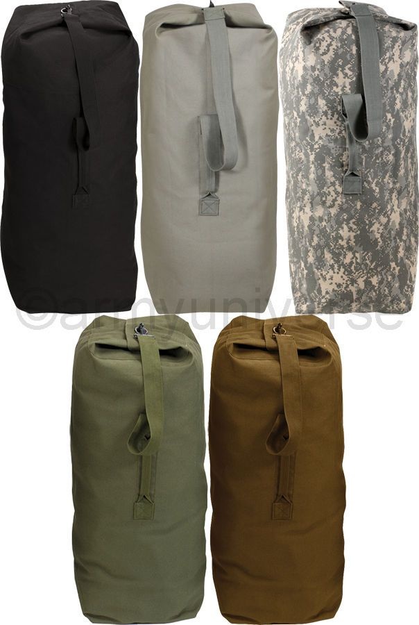 Top Load Duffle Bag Heavy Duty Canvas Travel Bag Backpack Carry Handle in  Clothes 7a7f528724992