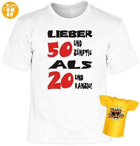 Lustiges T-Shirt zum 50. Geburtstag Lieber 50 und zünftig… mit Mini-