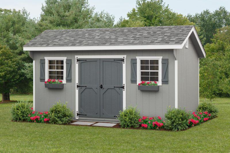 10 16 Garden Quaker Shed Landscaping Garden Storage Shed Shed Design