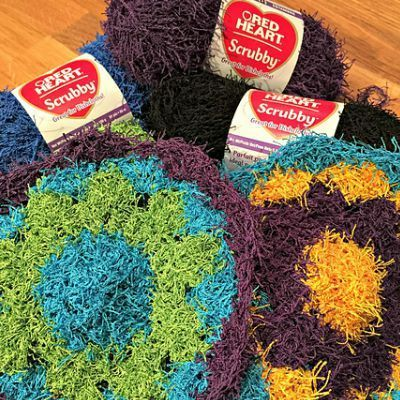 Kitchen Scrubbies and Cloths to Knit or Crochet   Topflappen und Häkeln