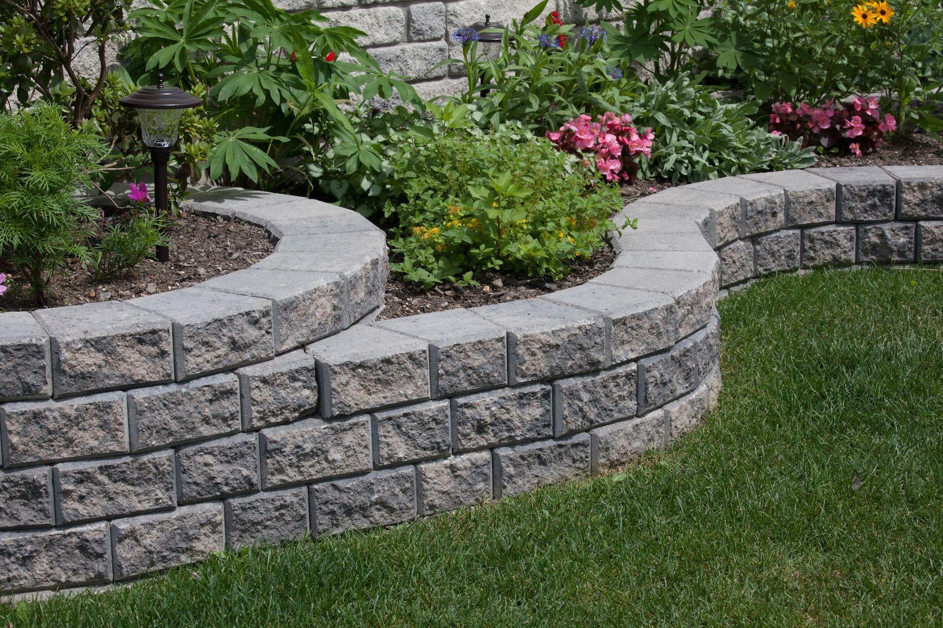 Stack Stone Landscape Blocks Patio Walls Shaw Brick Stone Landscaping Brick Wall Gardens Landscape Bricks