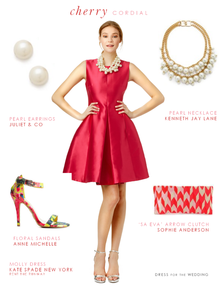 f1f17da025 Cherry Red Cocktail Dress